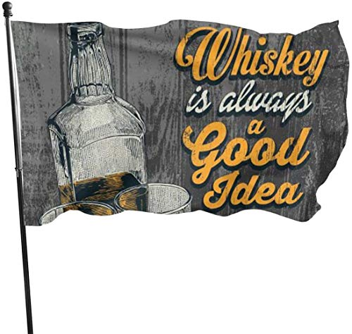 Viplili Flagge/Fahne, Whiskey is A Good Idea Flag: 3x5 FT Flag Tough The Strongest, Longest Lasting Flag National Flag Outdoor Flags