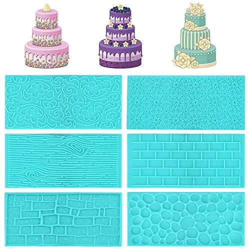YOUKCDT 6 Stück DIY Backformen Fondant Silikon Kuchen Formen Sechs Formen Blau Silikonform BPA freie Backmold Wiederverwendbare für EIS Eiswürfel Pudding Gelee Mini Kuchen Schokolade