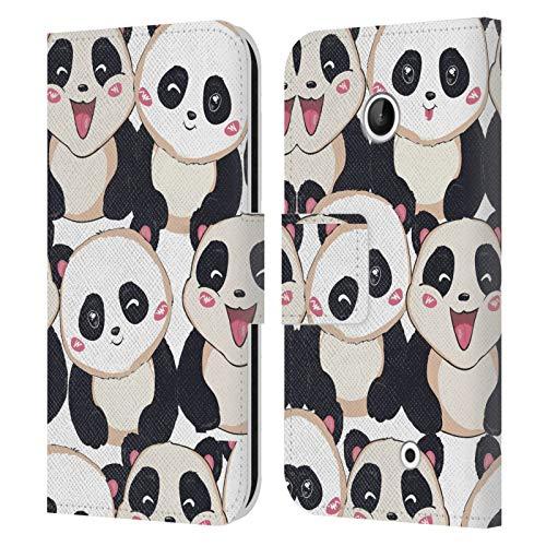 Head Case Designs Licenza Ufficiale Haroulita Panda Animali Baby Cover in Pelle a Portafoglio Compatibile con Nokia Lumia 630