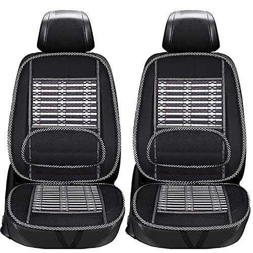 Ergonomic Bamboo Car Seat Pad, Ventilation Seat Cushion Non-Slip Massage Seat Covers, Fit 95% of Vehicles, Breathable (2PCS)