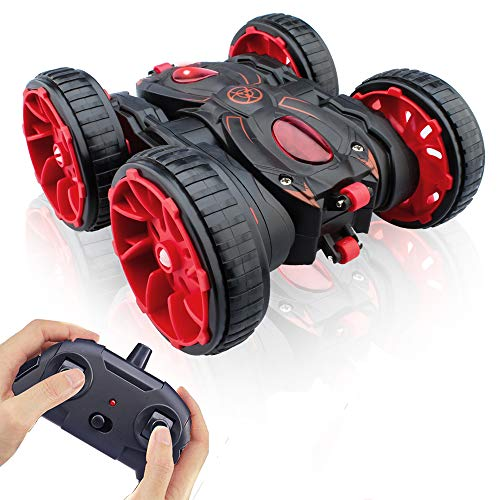 Remote Control Car, RC Cars Stunt Car Toy, 4WD 2.4Ghz Double Sided 360° Rotating Running RC Stunt Car All Terrain Off Road RC Crawler,Kids Xmas Toy Cars for Boys/Girls Aged 4 5 6 7 8 9 10 11 12