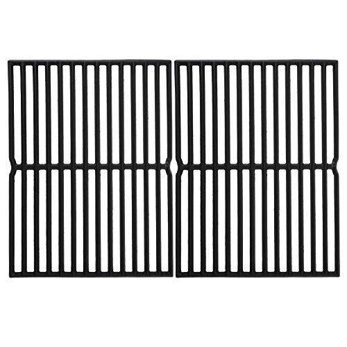 Hisencn 7522 Cooking Grates for Weber Spirit 200 Series, Spirit E/S 200 & 210 with Side Control Panel, Spirit 500, Genesis Silver A, 15 inch Cast Iron Grill Grid for Weber 7522, 7523 7521 65904 65905