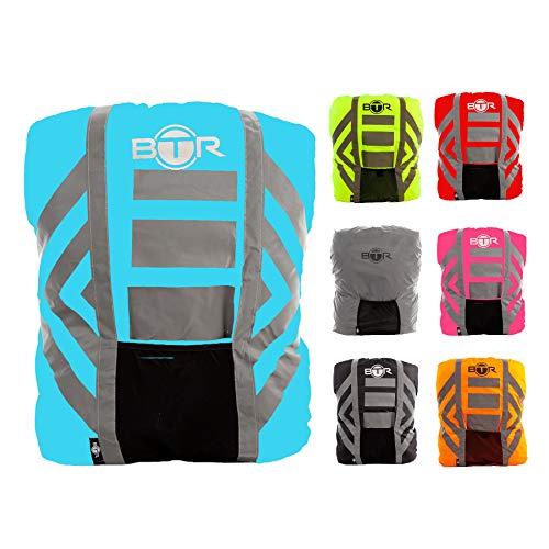 BTR Wasserfester Regenschutz für den Rucksack, Regenschutz für Schulranzen. Blau. Medium.