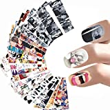 24 Sheets Hollywood Actress Marilyn Monroe Celebrity Full Nail Art Stickers Water Transfer Nail Stickers Design Decals