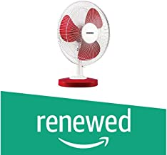 (Renewed) Usha Mistair ICY 3 Blade 400MM Table Fan (Red)