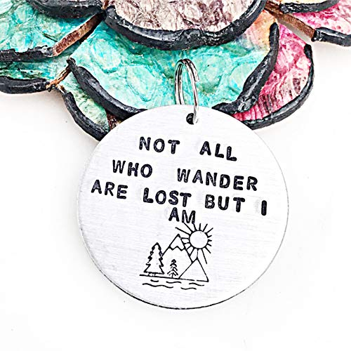 Not All Who Wander Are Lost But I Am Custom Pet Tags_Handstamped Dog Tag_Dog ID Tags