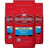 Community Coffee Breakfast Blend Medium Roast Coffee, Whole Bean, 12 Ounce Bag (Pack of 3)
