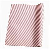 LOKIH Plastico Protector para Cocina Cajones Alfombras Non Adhesivo para Nevera Mueble Fregadero Estante Organizador Cubiertos,4 Opciones de tamaño Sarga Rosa,45x500cm