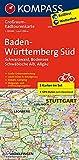 Baden-Württemberg Süd, Schwarzwald, Bodensee, Schwäbische Alb, Allgäu: Großraum-Radtourenkarte 1:125000, GPX-Daten zum Download (KOMPASS-Großraum-Radtourenkarte, Band 3711) - KOMPASS-Karten GmbH