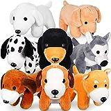8 Piezas Perros de Peluche Cachorros de Peluche Animal de Felpa de 6 Pulgadas Perro de Peluche Surtido Lindo a Granel Juguetes de Peluche de Animales para Favores de Fiesta Cumpleaños