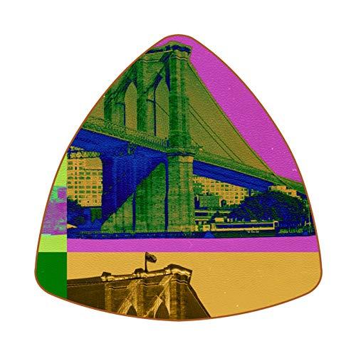 Brooklyn Bridge Painting Untersetzer für Getränke, Tasse, Flasche, Tasse, Kaffee, Bier, 6 Stück