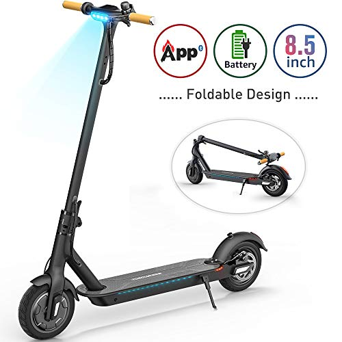 "TOMOLOO Electric Scooter with Foldable Design, 18.6 Miles Long-Range, Up to 15.5 MPH, Commuting Scooter, Portable E-Scooter with 8.5"" Air Filled Tires, Cruise Control"