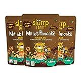 Slurrp Farm Mezcla instantánea de panqueques de chocolate con mijo, natural, saludable, vegano, sin gluten, bajo IG, bajo en grasas, apto para dietas, 5 oz (paquete de 3)