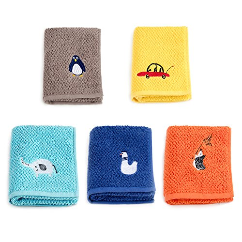 YUMU CASA - Juego de toallas de algodón, suave, absorbente, para manos y cara, para bebés y niños, paño de cocina, baberos para bebés, toalla para el sudor para niños (50 x 25 cm), 5 unidades