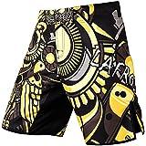 LAFROI QJK01 Pantalones cortos para hombre, con cordón y 1 bolsillo, para artes marciales mixtas, cross training y boxeo, Hombre, Gerente de Tiempo LA, M