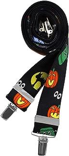 Men's Halloween Frankenstein Jack-O'-Lantern Black Cats Ghosts Boo X-Back Suspenders