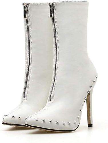 Ruanyi botas de Nieve de Moda para Hombre Tendencia Casual con Cordones de Invierno Faux Fleece Dentro de los Zapaños caseros (Color   azul, Tamaño   42 EU)