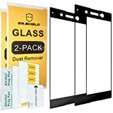 [2-Pack]-Mr.Shield for Sony Xperia XA1 Ultra [Tempered Glass] [Full Cover] [Black] Screen Protector with Lifetime Replacement