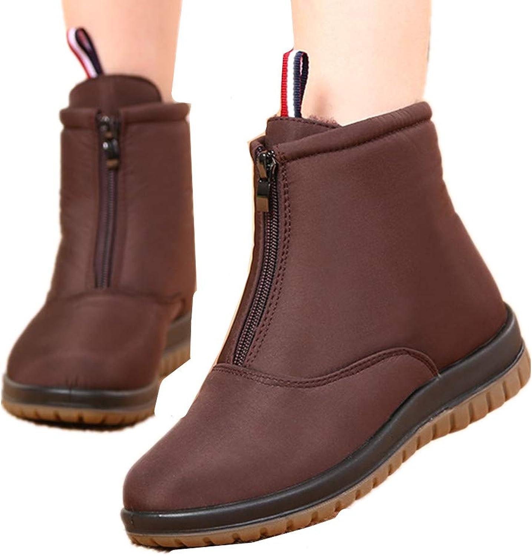 Edv0d2v266 Men Women Slip On Waterproof Outdoor Anti-Slip Fur Lined Ankle Snow Boots