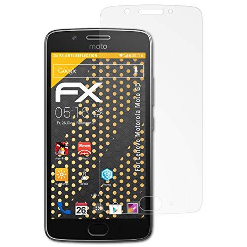 atFolix Panzerfolie kompatibel mit Lenovo Motorola Moto G5 Schutzfolie, entspiegelnde & stoßdämpfende FX Folie (3X)