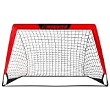 L RUNNZER Portable Soccer Goal, Soccer Nets for Backyard Training Goals for Soccer Practice with Carry Case, 4' x 3'