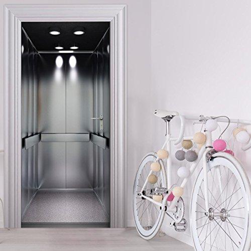 Türtapete selbstklebend TürPoster - FAHRSTUHL AUFZUG Lift - Fototapete Türfolie Poster Tapete