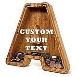 Hucha Personalizada - Forma de Letra de Madera - Huchas Originales con tu Nombre y Texto - Decoración y Regalo para Familiares y Amigos