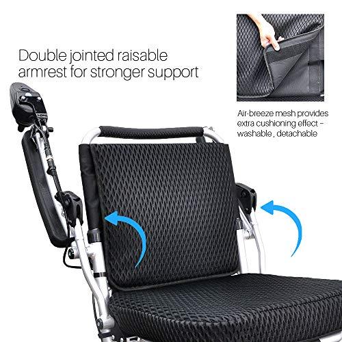 Foldawheel PW-1000XL (2 Batteries+2 Yrs Warranty+Free Travel Bag) Only 56.4 lb+3.5 lb per Li-ion Battery, Longest Driving Range Power Wheelchair.