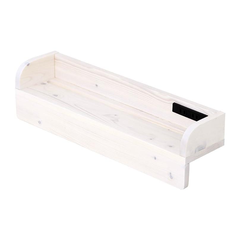 血まみれ上へ討論【JAJAN】 天然木 すのこ ベッド 専用 棚 幅60cm ホワイト [ 2くちコンセント付き ][ 完成品 ][掛けるだけ 簡単設置 ][ 北欧パイン材 ][ 枕元 後付け宮]