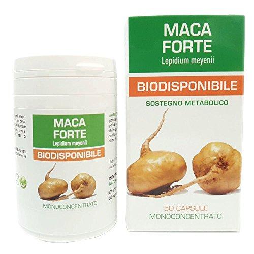 Maca Peruviana Pura Forte Naturpharma 50 Vegan capsule da 350 mg di Estratto Puro| Radice estratto secco Titolato al 1,5% in Beta-Ecodysone