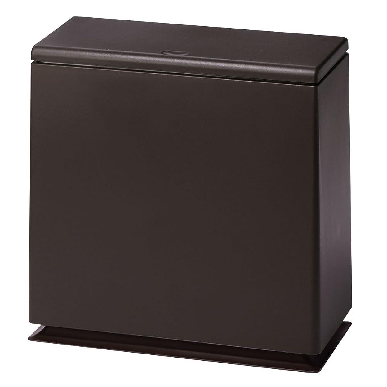 不毛自慢海里ぼん家具 ゴミ箱 袋が見えない ふた付 8.5L スリムタイプ ダストボックス おしゃれ ブラウン
