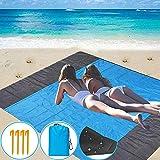 Borogo Sandfree Beach Blanket, 82' x 79' Waterproof Large Beach Mat & Sand Mat Beach, Soft Pocket...