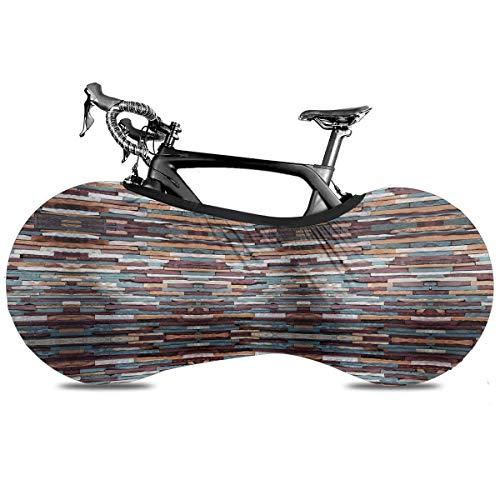 Crocosmia - Cubierta de bicicleta portátil para interior antipolvo, alta elasticidad, para bicicleta, protección contra desgarros, neumáticos de carretera, MTB, bolsa de almacenamiento, Superficie de piedra de color de la ciudad, talla única