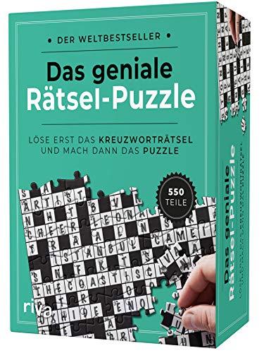 riva Verlag Das geniale Rätsel-Puzzle: Löse erst das Kreuzworträtsel und mach dann das Puzzle