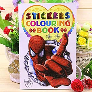 16 Page Spider Coloring Book Sticker Book Children kids Books Adults Coloring Books Painting/Drawing/Art 2 cover patterns