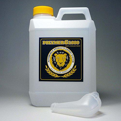 コーティング剤 超撥水性能を装備したガラス繊維系コーティング剤・濃縮原液タイプのポリマーG1000・2000ml(液剤のみ)