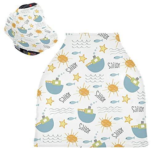 Barco De Pesca De Mar Marinero Cubierta de Lactancia Materna Asiento de Bebé Cubierta de Cochecito Transpirable Carros de La Compra Cubierta para Niños Niñas