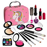 Kids Makeup Kit for Girls, Washable Makeup Kit, Real Play Kids Makeup Set Princess Play Birthday 3 4 5 6 Gift for Little Girls Toys