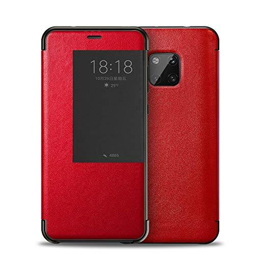XYAL0002003 Voor Huawei Mate 20 Pro, Lederen Flip Open Raam Automatische Slaap wakker Smart Cover Case Shell voor Huawei Mate 20 Pro, Xingyue Aile Cases & Covers, Rood