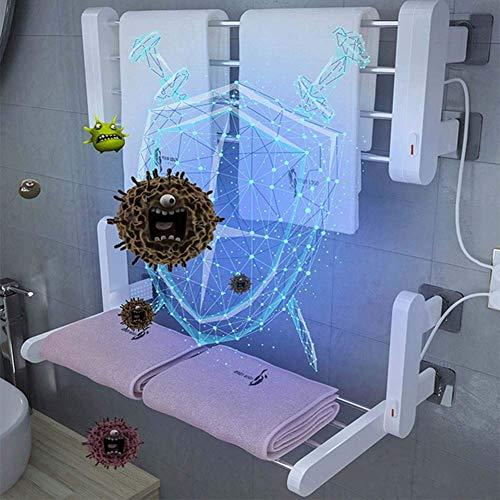 KaiKai Elektrische Handtuchwärmer, Badezimmer Handtuchwärmer Faltbare Handtuchwärmer Heizkörper Geeignet for Badezimmer Küche Wohnzimmer