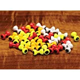 Hareline Painted Lead Dumbbell Eyes - Large / Yellow
