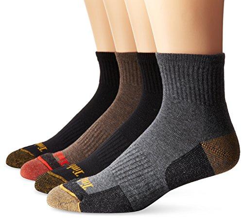 Timberland Herren Socken 4 Stück Komfort Low Quarter Gr. Einheitsgröße, Verschiedene Schwarz/Braun/Grau