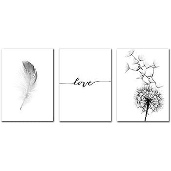 Affiche Display08/simple avec ligne d/'impression formant le mot /«/love//» d/écoration murale 21*30cm blanc peinture sur toile