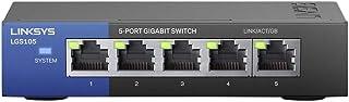 Linksys Lgs105-Eu-Rtl Desktop Gigabit-Switch Voor Bedrijven, 5-Poorts