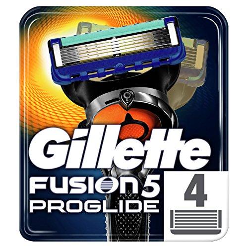 Gillette Fusion5 ProGlide Rasierklingen für Herren mit Präzisionstrimmer, 4 Stück Nachfüllklingen