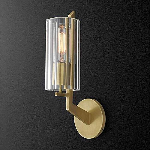 YANQING Duurzame Postmoderne Licht Wandlamp Glas Metalen Nachtlampje Spiegel Koplamp Verlichting Lamp Diameter 12 cm Hoog 30 cm3-10 Vierkante Slaapkamer Woonkamer Corridor