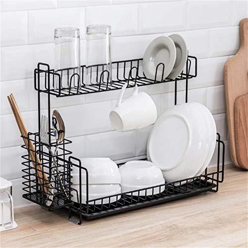 RANRANJJ Organizador de ducha adhesivo Estante del baño Caddy Estante de almacenamiento de la cocina Montado en la pared Acero inoxidable SUS304 Sin perforación (Color : Black)