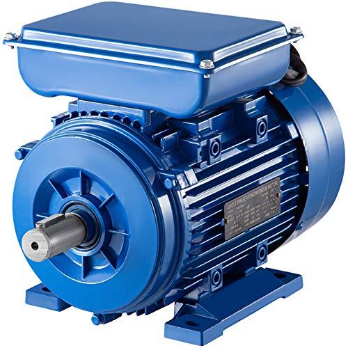VEVOR Motore Asincrono Monofase a 2 Poli, 2200 W Motore Elettrico Monofase Asincrono a Velocità 2860 giri/min, Motore Lunghezza Albero 50 mm, Montaggio B3, Motore Monofase a Classificazione IP44
