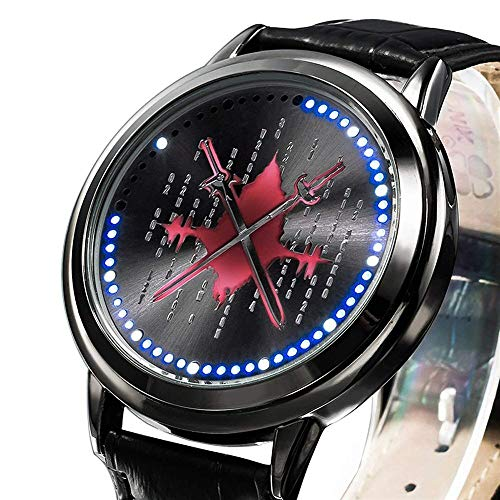 Anime SAO Sword Art Online Alicization Kirito Asuna Led Watch Waterproof Touch Screen Digital Light Wristwatch Cosplay Props Gift