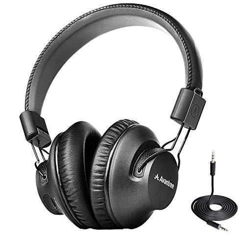 Avantree Audition Procast Casque de Diffusion Bluetooth 5.0, Partage Audio Multipoint Jusqu'à 100 Procasts, sans Fil Circum Pliable avec Micro, aptX Low Latency pour TV PC Téléphone avec Son Hi-FI